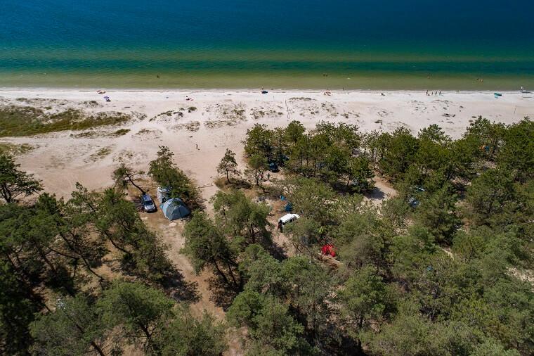 Tents on coast