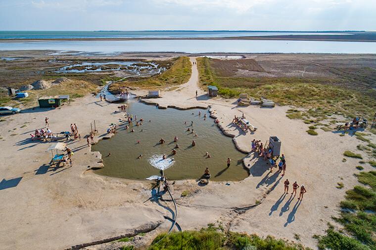Healing lakes on Arabatka
