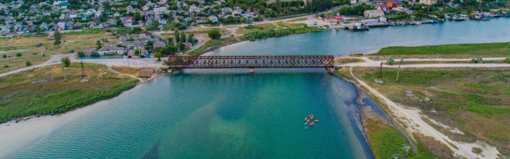 Iron Bridge in Henichesk
