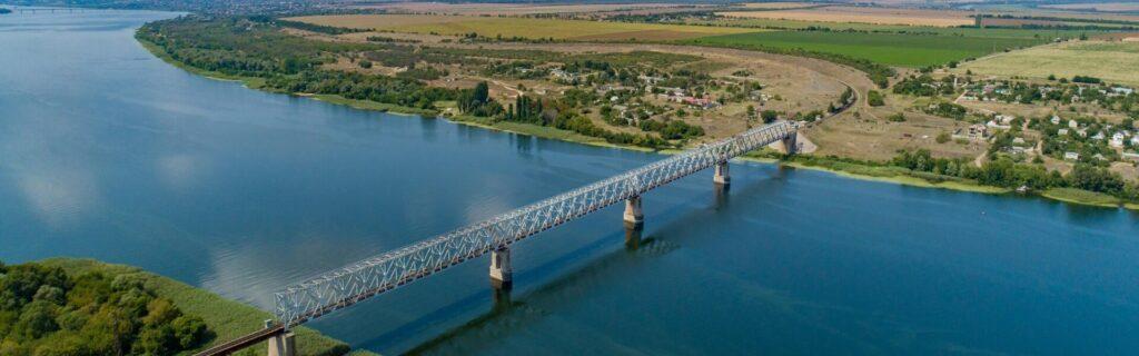 Railway Bridge across the Dnipro River