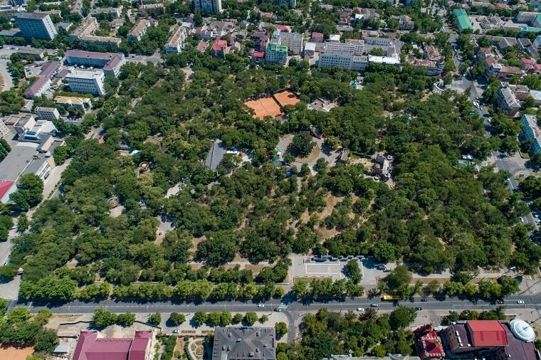 Panorama on Shevchenko Park