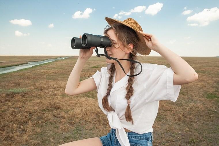 Турист в Аскании-Нова