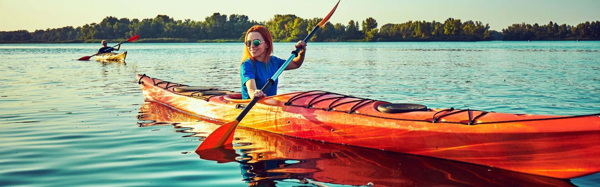 Kayaking in Nova Kakhovka