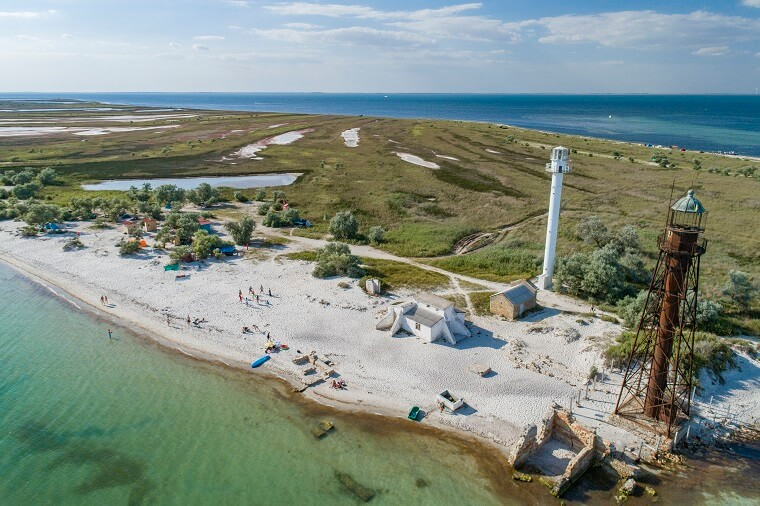 Island near Skadovsk