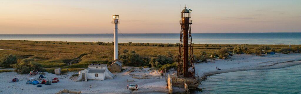 Lighthouses on Dzharylhach Island