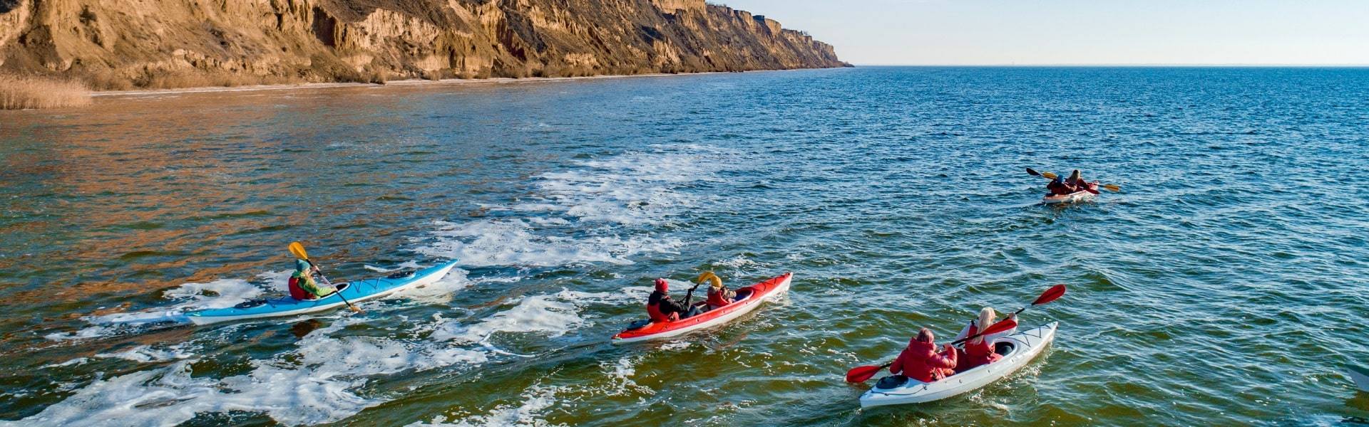 Winter Kayaking in the Kherson Grand Canyon
