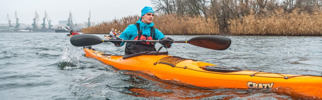 Winter Kayaking in the Floodplains