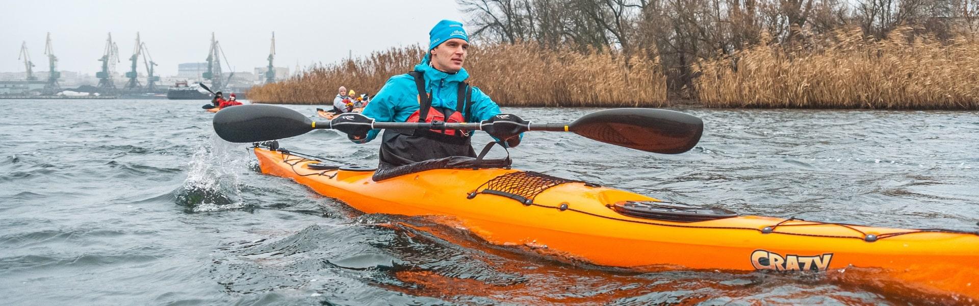 Winter Kayaking in the Floodplains